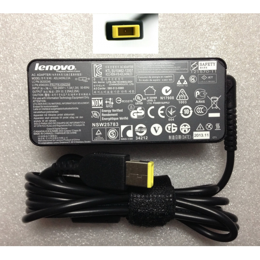 Original OEM 45W AC Adapter Charger + cord For Lenovo ThinkPad T431s 20AC001AUS Ultrabook