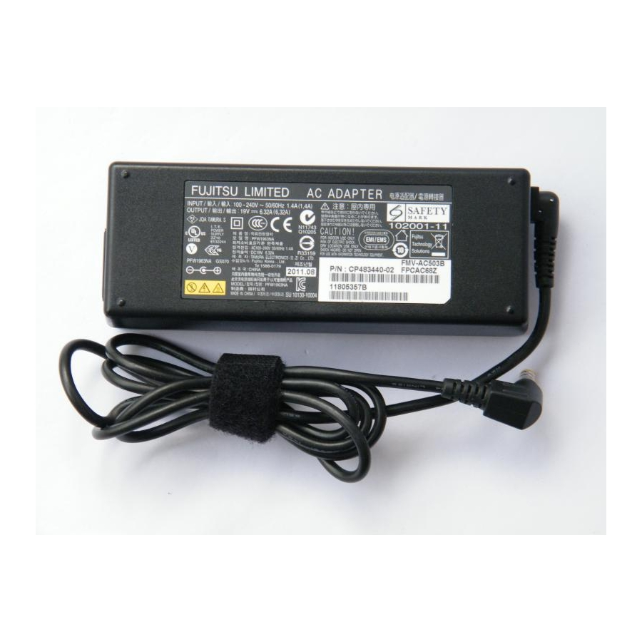 Original 120W 19V 6.32A AC Power Adapter For Fujitsu CP163061-01