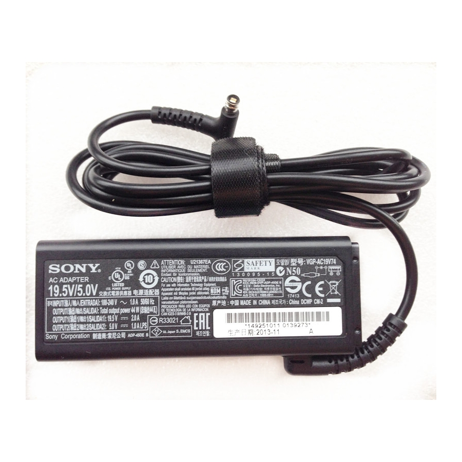 Original OEM 44W AC Adapter Cord For Sony VAIO Tap 11 SVT1122Y9EB